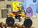 Спанч Боб очень любит бургеры. Даже по бездорожью он готов гнаться за ними на своем мотоцикле. Помоги Губке Бобу собрать все бургеры на пути к финишу и не перевернуться.