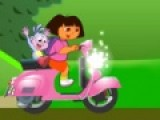Сегодня Даша решила проехаться за бананами. У нее есть отличный скутер. Основная задача не перевернуться иначе путешествие на этом и  закончится.