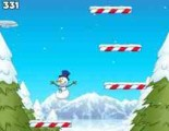 Снеговику стало тесно стоять во дворе и отпугивать птиц носом-морковкой и он решил достичь определенных высот в своей карьере! И для достижения этих высот он решил прыгать по платформам, взбираясь все выше и выше.
