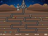 Ученные придумали машину по добыче золота в шахтах, которые кишат всевозможными монстрами. Оператор этого механизма управляет телескопической лапой, которая движется по шахтам. Однако монстры могут повредить лапу машины, так что будьте внимательны!