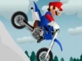 Марио очень любит мотоциклы, потому не смотря на погоду решил прокатиться. Но гонки по бездорожью могут быть очень опасны. Помоги Марио добраться до финиша не перевернувшись на своем мотоцикле.