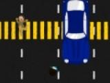Помогите детворе добраться до школьного автобуса. Они должны перебежать через оживленную трассу и не попасть под автомобиль.