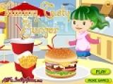 Возьмите булочку и овощи, еще котлету или отбивную,добавьте сыр и немного соуса и приготовьте вкуснейший гамбургер!