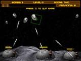Цель игры - уничтожение падающих комет и астероидов. Боеприпасов ограничено, поэтому старайтесь поразить несколько комет одновременно. Боеприпасы будут пополняться с каждым раундом.