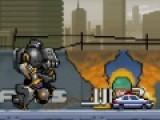 Цель этой игры нанести максимальные разрушения в городе и уничтожить всех, кто пытается Вас атаковать. Выберите себе робота и начинайте стрелять и крушить все на своем пути. Используйте стрелки и пробел для управления роботом.