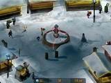 Игра обладает очень хорошей анимацией. Суть такова: нужно швыряться комками снега в тех людей, которые идут с кучей подарков, тем самым сбивать их. Пополнять боеприпасы возле снеговика.
