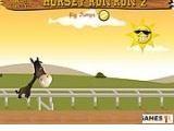 Скачки - нелегкий спорт, но интересный. Каждый уровень этой игры представляет собой дорожку, полную различных препятствий, через которые нужно перепрыгнуть лошадке.