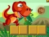 В этой игре ты будешь управлять динозавром, который собирает монетки. Помоги ему перепрыгивать обрывы. Для этого нажимай на левую кнопку своей мыши. Яркая графика игры для детей не даст заскучать и поднимет настроение.