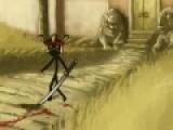 В этой игре вы будете играть за самого настоящего шиноби. Убейте врага первым иначе он убьет Вас. Вся игра осуществляется при помощи мыши. Нажимайте на соперника и выбирайте как именно Вы хотите его убить. Не забывайте собирать предметы после драки. Они пригодятся Вам для дальнейшего путешествия.