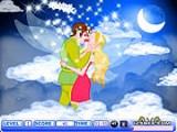Феи - посланники высших Сил! В этой игре мальчик и девочка феи решили закрепить свой союз романтическим поцелуем в небе, среди облаков и волшебной Луны!