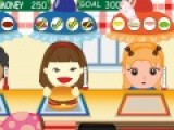 Перед Вами отличная игра про обслуживание, в которой Вы будете помогать Келли обслуживать посетителей в ее киоске гамбургеров. Выполняйте заказы клиентов быстро и не перепутай те ингредиенты вкусных бургеров.
