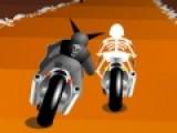 Вы не простой гонщик, и мотоцикл у вас тоже не простой. А соперники по треку еще более не обычные. Постарайтесь обогнать всех скелетов на своем мотоцикле. И не слетайте с дороги, иначе вы можете от туда не выбраться.