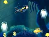 Так разнообразен подводный мир. твоя задача собирать растения, но ни в коем случае не трогать подводных животных. Они могут жалить и кусать. Для управления аквалангистом используй свою мышь.