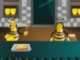 Прикольная игра про пчел, которые готовят сандвичи с медом. Помоги им справляться с этой работай. Нажимай курсором на ту пчелу, которая должна выполнить действие, например, намазать мед на хлеб или положить еще кусочек хлеба сверху.
